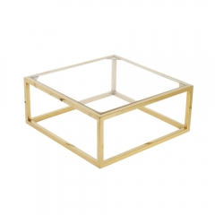 Metal Polished Gold Display Shelf