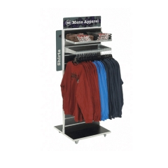 Retail Store Portable Clothing Display Rack