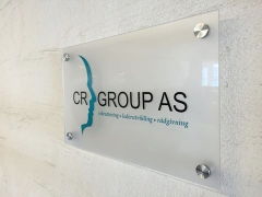 Frosted Acrylic Wall Mounted Sign