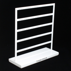 Metal White Earring Display Stand