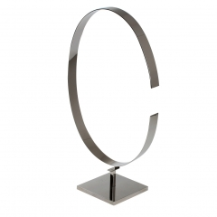 Polished Silver Belt Display Stand