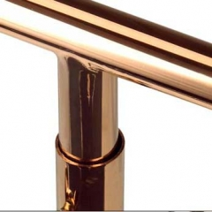 Polished Rose Gold T-Bar Display