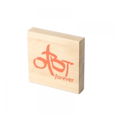Custom Wooden Logo Block