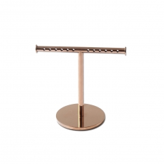 Polished Rose Gold T-Bar Bracelet Stand