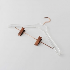 Rose Gold Antique Brass Acrylic Transparent Clothes Hanger