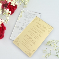 Custom Acrylic Wedding Invitation