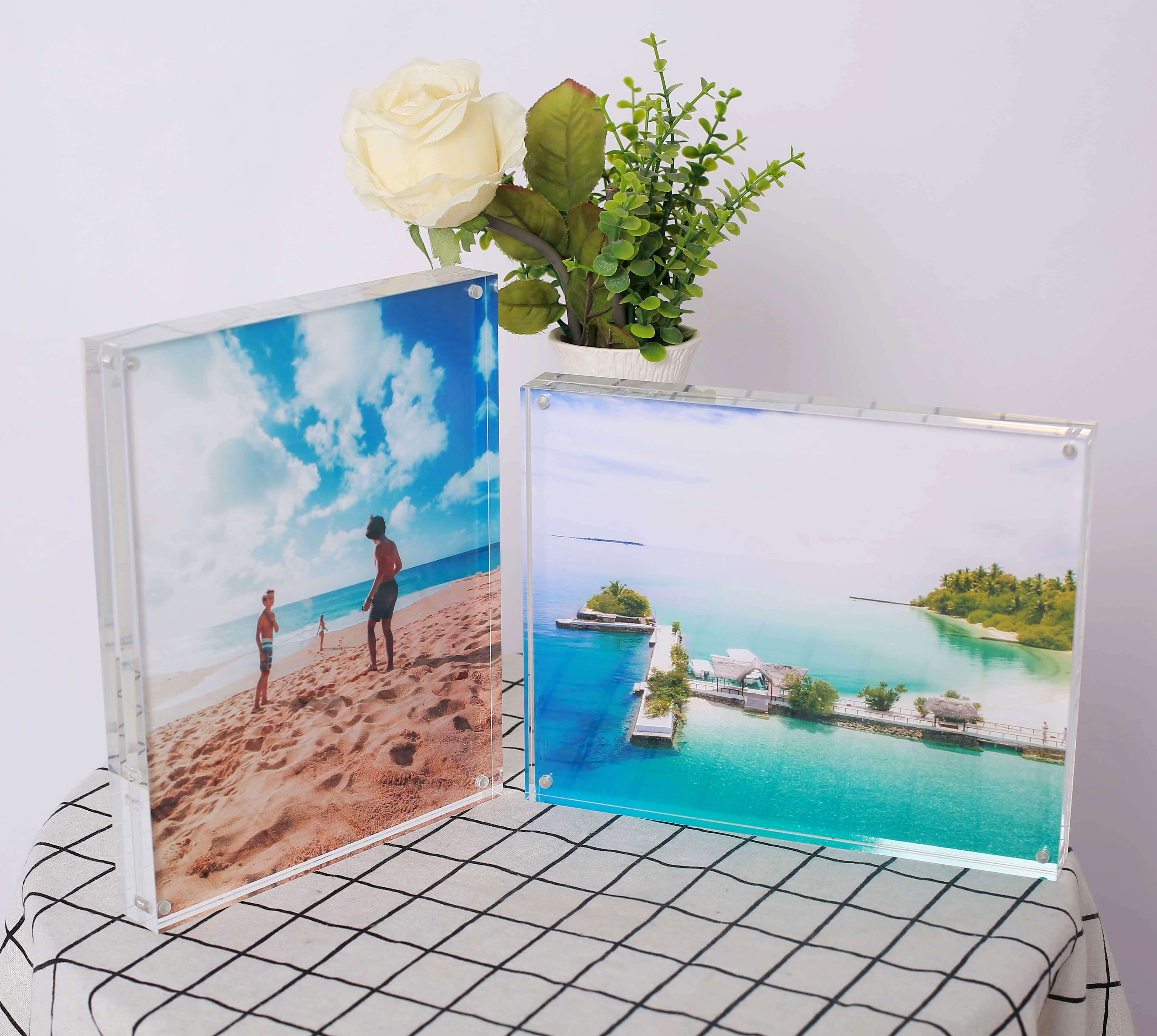 8 x 10 acrylic picture frame