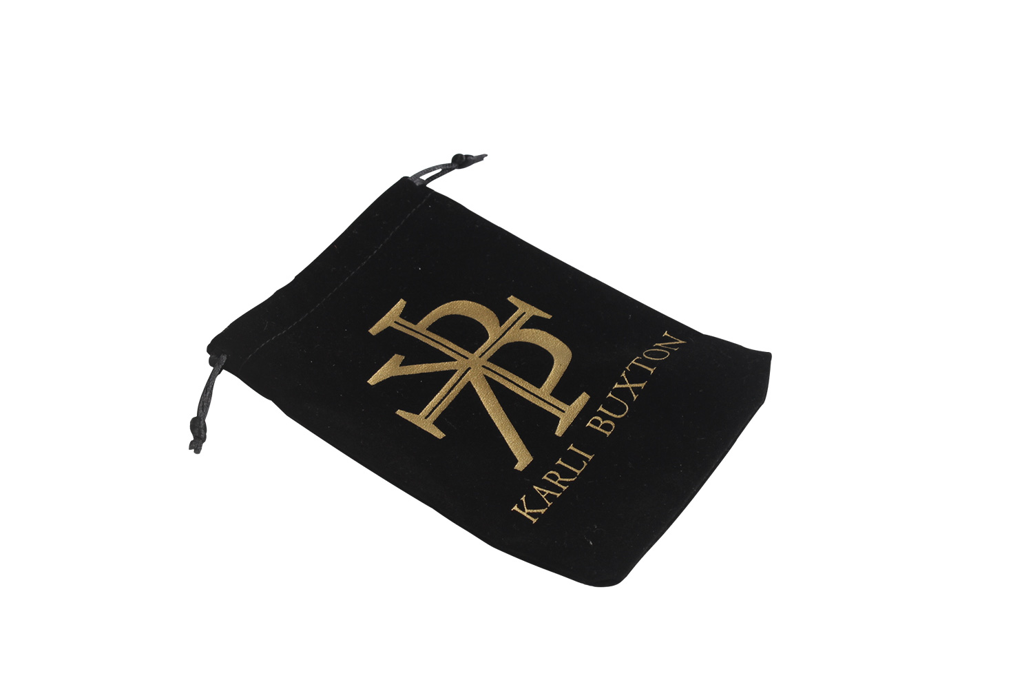 custom velvet drawstring pouch bag
