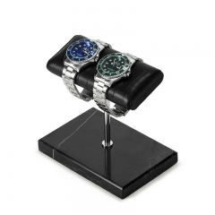 Luxurious Handcrafted Leather & Marble Watch Display Stand